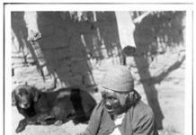 A photo taken in 1899 of Maria Cassei, and Coahuilla basket maker by George Wharton James